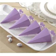 Lilac Wedding Cone Favour Boxes