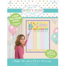 Baby Shower Baby's Statistics Party Game