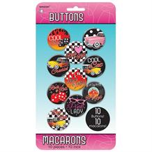 1950's Rock & Roll Party Buttons | Badges Party Favours