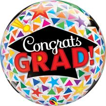 "Congrats Grad | Graduation 22"" Qualatex Bubble Party Balloon"