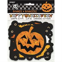 Happy Halloween Pumpkin Paper Party Banner | Decoration