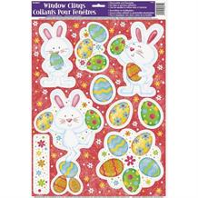 Easter Bunny Window Stickers Decorations