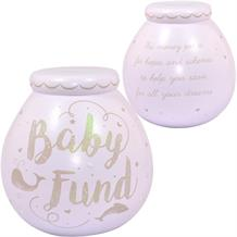 Giant Baby Fund | Pink Whales Pot of Dreams | Money Box | Bank