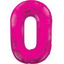 "Pink Glitz 34"" Number 0 Supershape Foil 