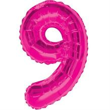 "Pink Glitz 34"" Number 9 Supershape Foil 