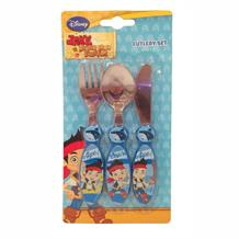 Jake Neverland Pirates Cutlery | Knife |Fork | Spoon | Set