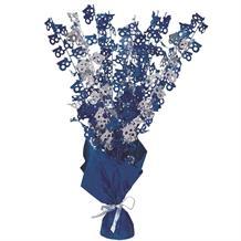 Blue Glitz 18th Birthday Party Table Centrepiece
