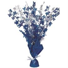 Blue Glitz 30th Birthday Party Table Centrepiece | Decoration