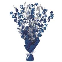 Blue Glitz 50th Birthday Party Table Centrepiece | Decoration