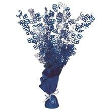 Blue Glitz 60th Birthday Party Table Centrepiece | Decoration