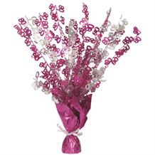 Pink Glitz 80th Birthday Party Table Centrepiece | Decoration
