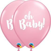 Oh Baby! Pink Baby Shower 25pk Party Latex Balloons