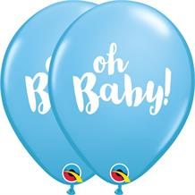Oh Baby! Blue Baby Shower 25pk Party Latex Balloons