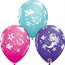 Merry Mermaids 25pk Party Latex Balloons