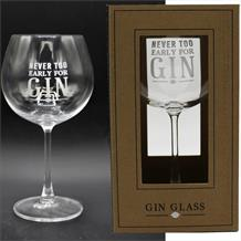 Never Too Early For Gin Goblet Glass | Keepsake