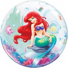 "Ariel the Little Mermaid 22"" Qualatex Bubble Party Balloon"