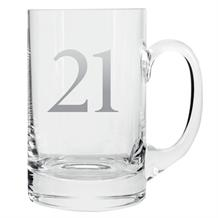 Age 21 Silver Tankard Glass | Keepsake