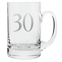Age 30 Silver Tankard Glass | Keepsake