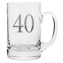 Age 40 Silver Tankard Glass | Keepsake