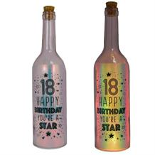 Age 18 | You're a Star Iridescent Light Up Bottles | Keepsake
