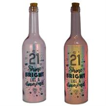 Age 21 | Shine Bright Like a Diamond Iridescent Light Up Bottles | Keepsake