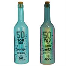 Age 50 | Little Sparkle Iridescent Light Up Bottles | Keepsake