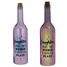 Daughter | Brighter Place Iridescent Light Up Bottles | Keepsake