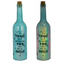 Friend | Shooting Star Iridescent Light Up Bottles | Keepsake