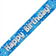 Blue Star Happy Birthday Foil Banner | Decoration