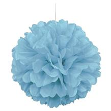 "Powder Blue 16"" Puff Ball Party Hanging Decorations"