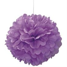 "Purple 16"" Puff Ball Party Hanging Decorations"
