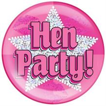 Hen Party Silver Star Jumbo Badge