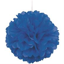 "Royal Blue 16"" Puff Ball Party Hanging Decorations"