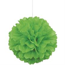 "Lime Green 16"" Puff Ball Party Hanging Decorations"
