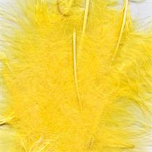 Yellow Eleganza Decorative Craft Marabout Feathers 8g