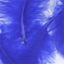 Royal Blue Eleganza Decorative Craft Marabout Feathers 8g