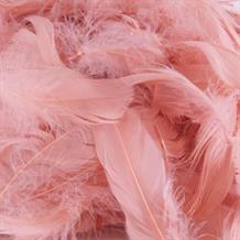 Rose Gold Eleganza Decorative Craft Feathers 50g