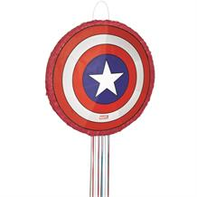 Marvel Captain America Pull Pinata Party Game | Decoration