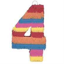 Number 4 Rainbow Design Pinata Party Game | Decoration