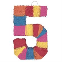 Number 5 Rainbow Design Pinata Party Game | Decoration