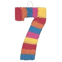 Number 7 Rainbow Design Pinata Party Game | Decoration