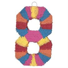 Number 8 Rainbow Design Pinata Party Game | Decoration