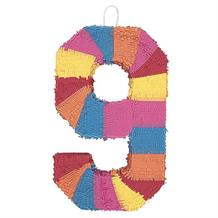 Number 9 Rainbow Design Pinata Party Game | Decoration