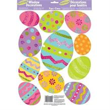 Easter Egg Glitter Window Stickers Decorations