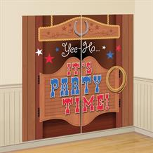 Western Bandana & Jeans Giant Scene Setter Party Decoration