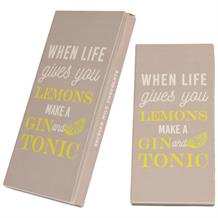 Gin | When Life Gives You Lemons Make Gin Belgian Chocolate Gift Bar