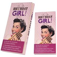 Birthday Girl Belgian Chocolate Gift Bar
