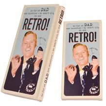 Retro Dad Belgian Chocolate Gift Bar