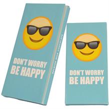Emoji Don't Worry Be Happy Belgian Chocolate Gift Bar