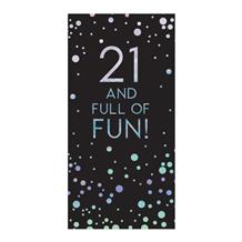 Age 21 | Full of Fun Sparkling Dots Belgian Chocolate Gift Bar